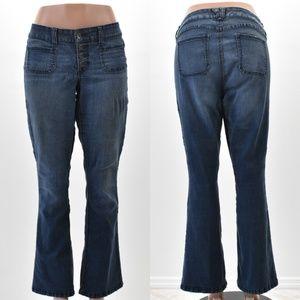Torrid Denim Blue Jeans Flare Size 16 Button Front